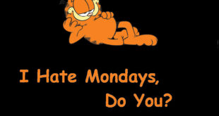 """I hate Mondays"" – Garfield the cat"